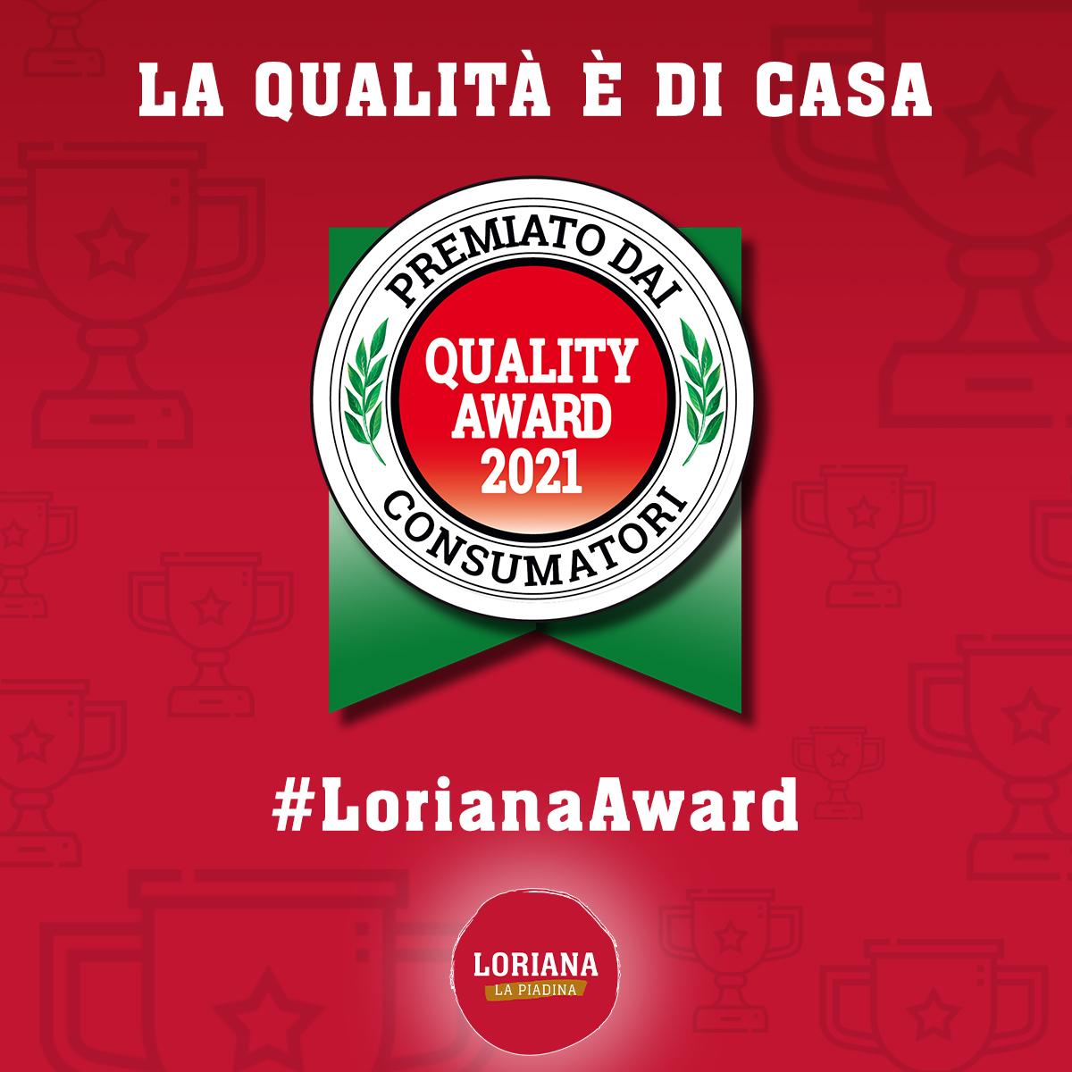 Le piadine Loriana si aggiudicano il premio Quality Award 2021!