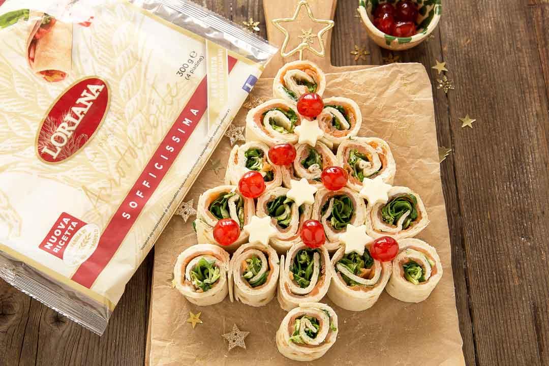 Albero di Natale con piadine Loriana