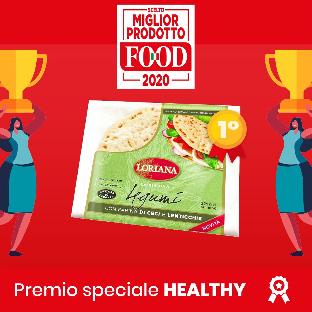 Piadina Legumi vince il Miglior Prodotto FOOD 2020