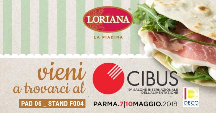 Loriana vi aspetta a CIBUS 2018