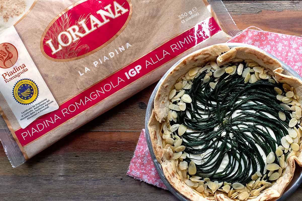 Torta salata di Piadina IGP Loriana, l'idea gustosa di primavera