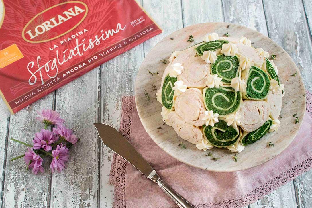 Zuccotto salato di piadina Loriana