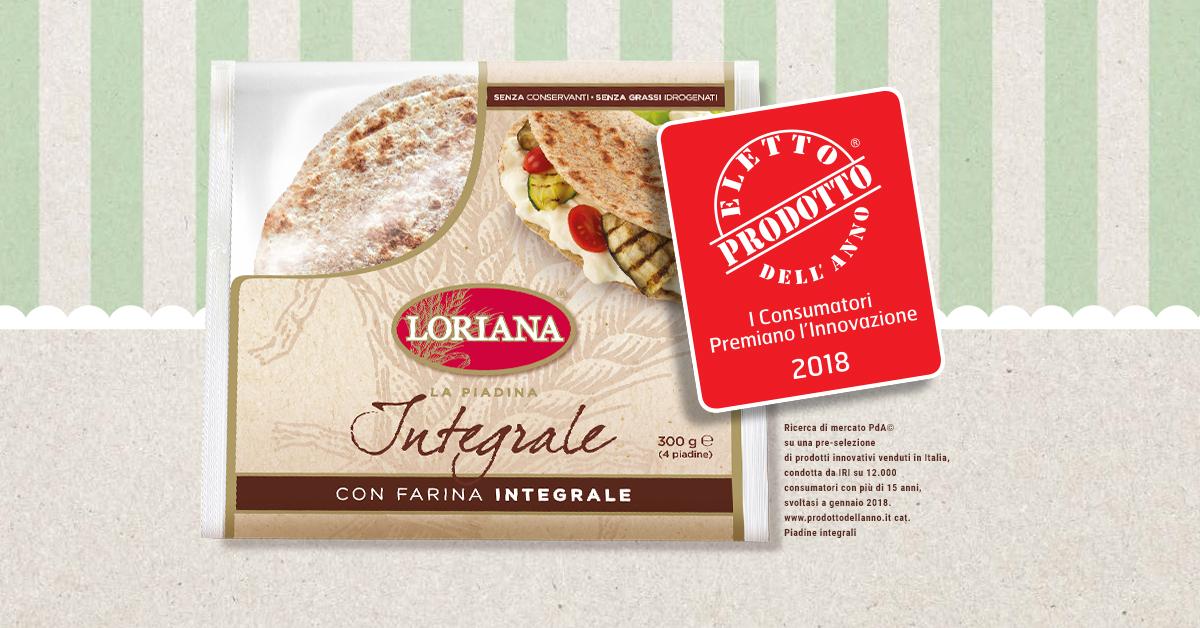 Loriana Integrale: prodotto dell'anno 2018